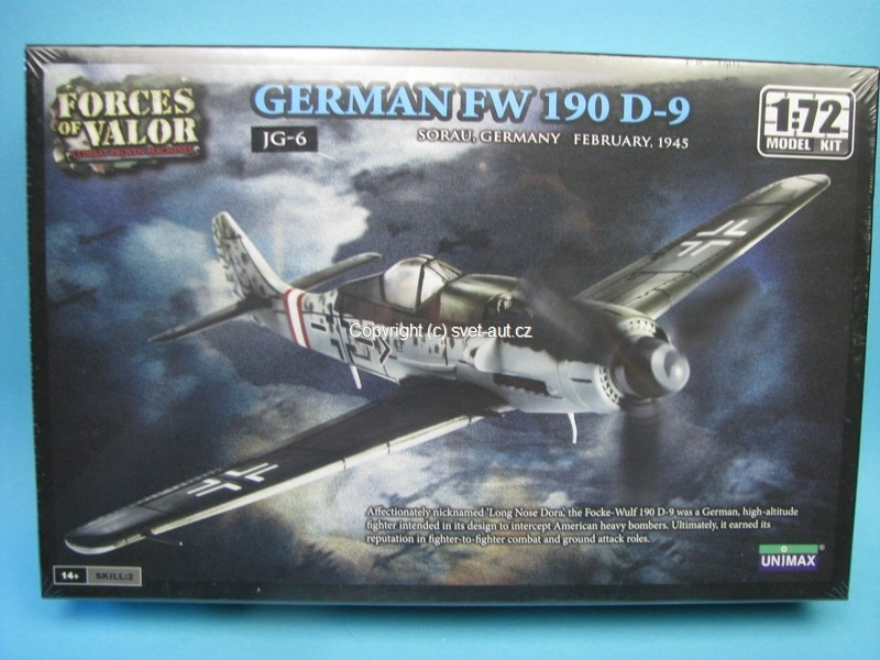 Focke Wulf German FW 190 D-9 1:72 Kit Unimax